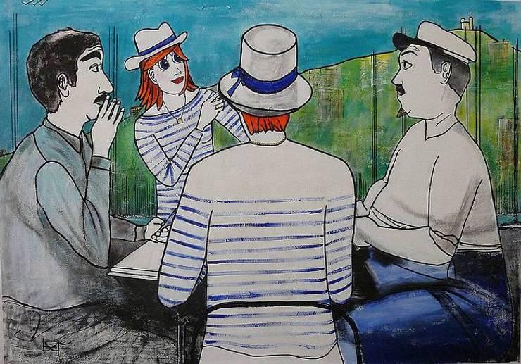 """Les Canebière s'invitent à la partie de cartes """"d'aprés l'oeuvre de Monsieur Marcel Pagnol"""": Art de style  par bégé art"""
