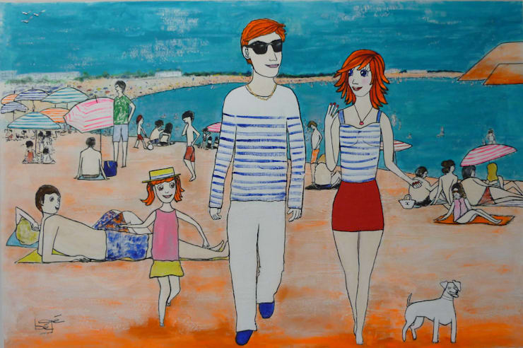 Les Canebière à la plage: Art de style  par bégé art