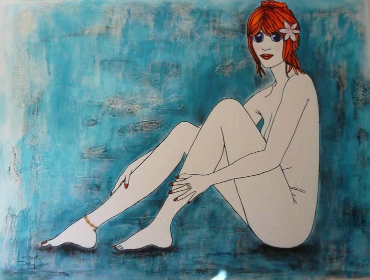 Louise à la fleur: Art de style  par bégé art