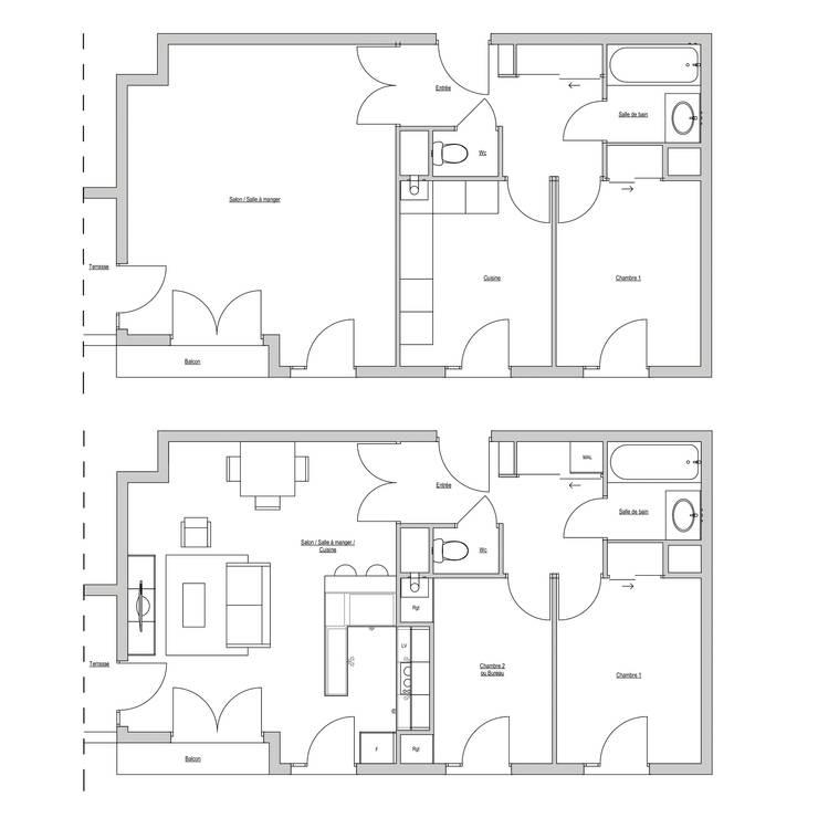 Кухни в . Автор – Julie LEFEVRE - Design d'Espace et Rendu 3D