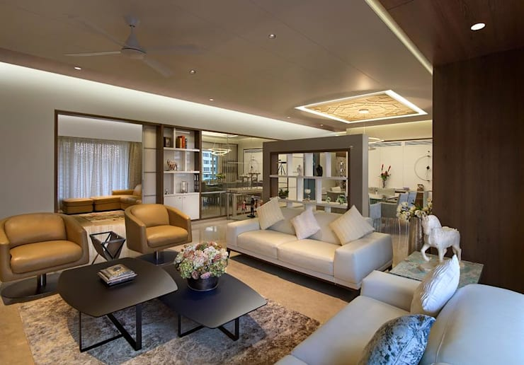 Residence:  Living room by Archtype