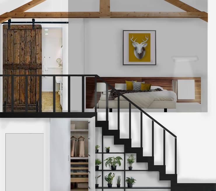 Dormitorios de estilo industrial de PROJECT AB Industrial