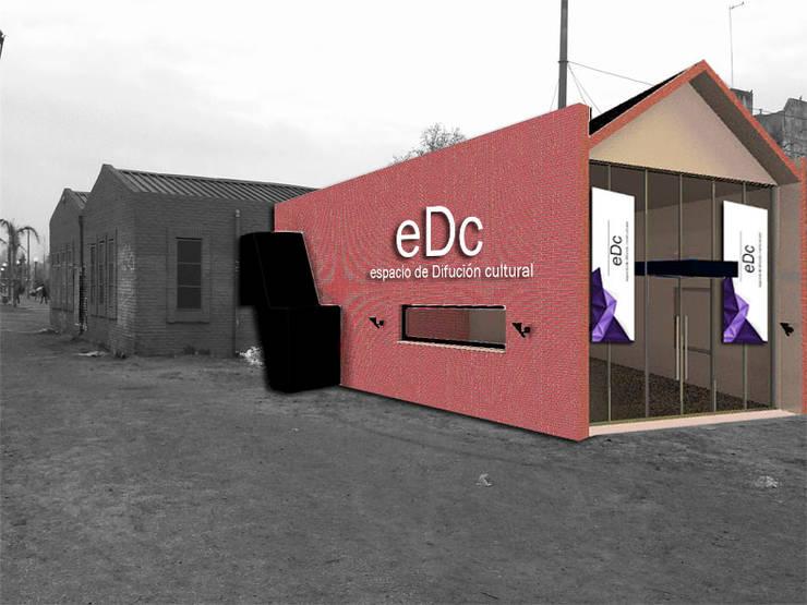 FOTOMONTAJE Salas multimedia industriales de CubiK Industrial Ladrillos