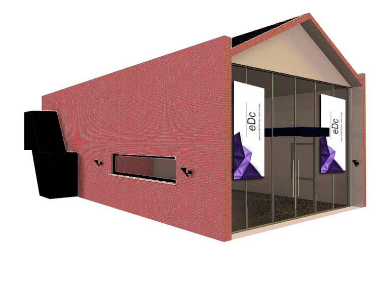 FACHADA PRINCIPAL Salas multimedia industriales de CubiK Industrial Vidrio