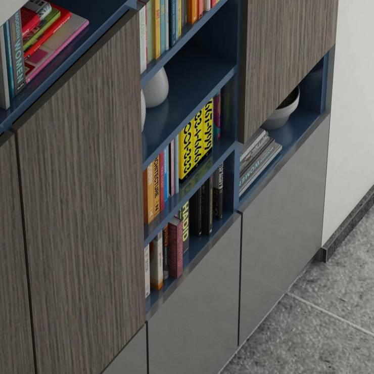 BIBLIOTECA: Estudio de estilo  por santiago dussan architecture & Interior design