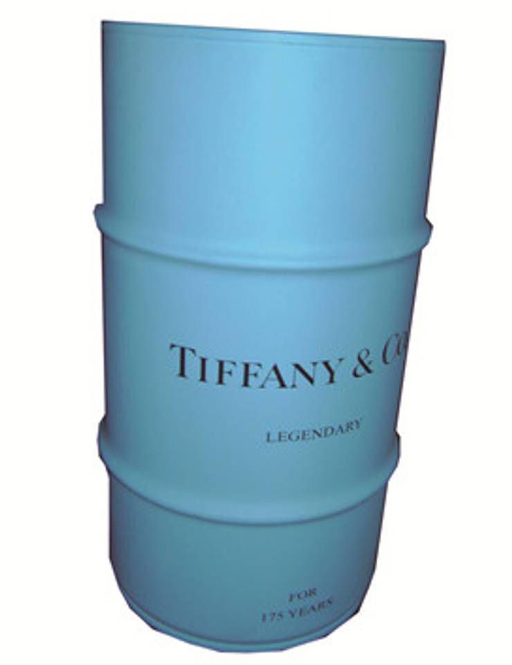 Latão Tiffany: Sala de estar  por Certas Coisas Vintage