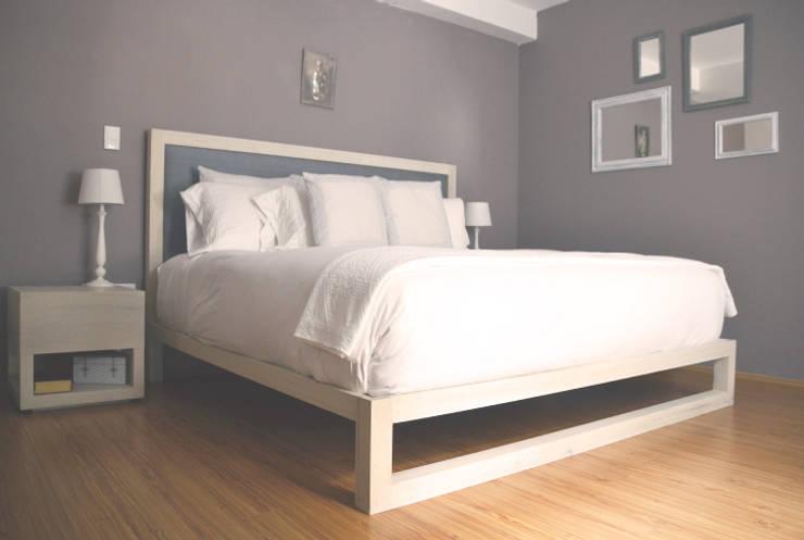 غرفة نوم تنفيذ CuboB Arquitectura de Interiores
