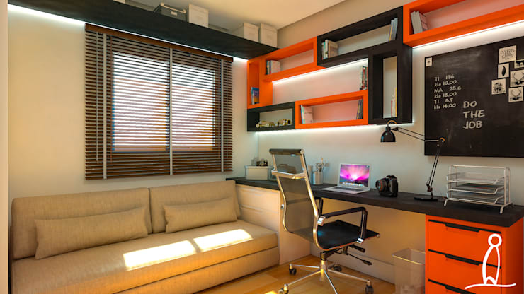 Residência Jovem Casal - Studio :   por Leben Arquitetura