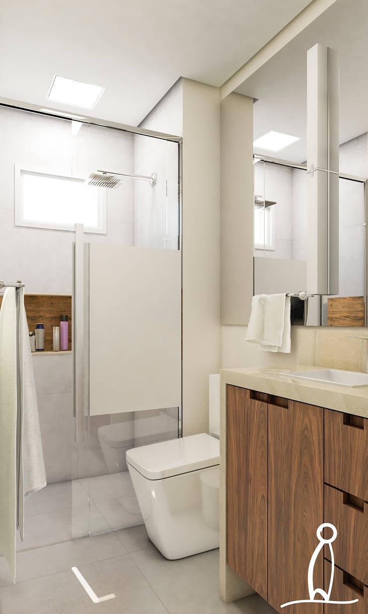 Residência Jovem Casal - Banho:   por Leben Arquitetura