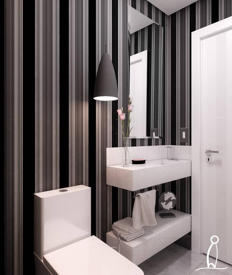 Residência Jovem Casal - Lavabo:   por Leben Arquitetura