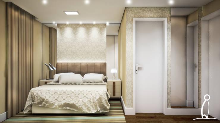 Residência Jovem Casal - Dormitório do Casal:   por Leben Arquitetura