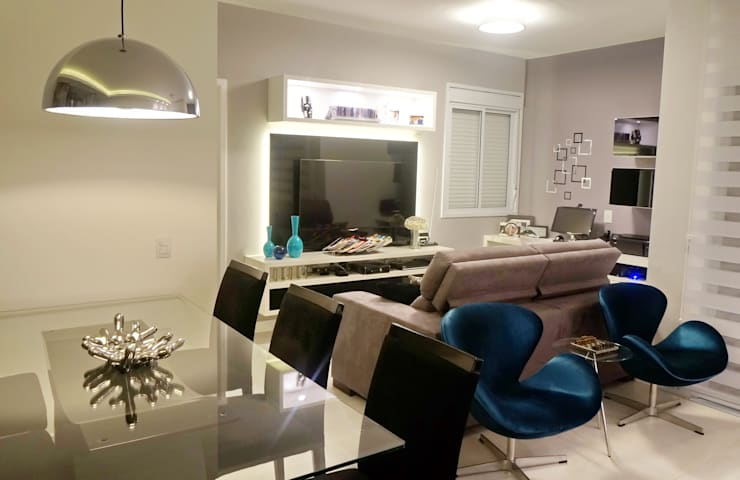 Interiores - Apartamento: Sala de estar  por ARCHITECTARI ARQUITETOS