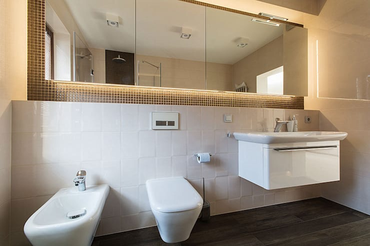 wnętrza: styl , w kategorii Łazienka zaprojektowany przez STUDIO ROGACKI