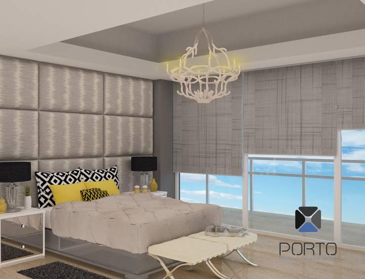 Habitaciones de estilo  por PORTO Arquitectura + Diseño de Interiores