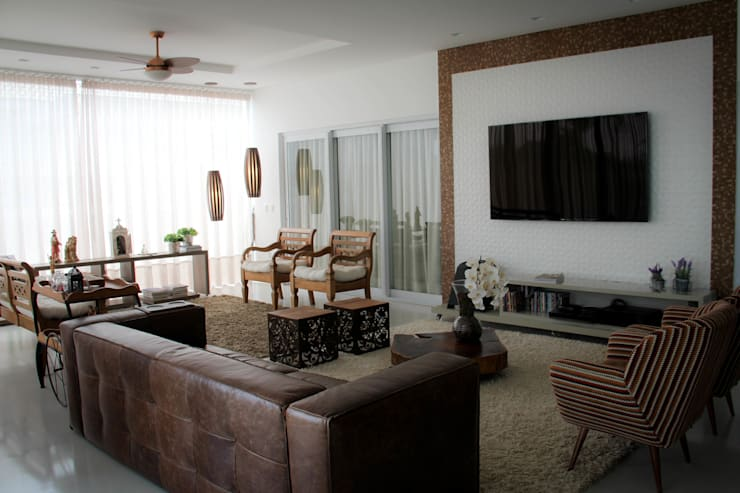 modern Living room by Andrea F. Bidóia Arquiteta