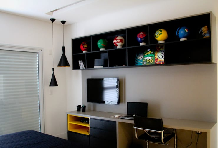 Residência Primavera: Quartos  por Andrea F. Bidóia Arquiteta