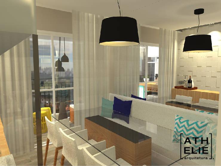 Sala de Jantar [Dining]: Salas de jantar modernas por ATHeliê Arquitetura