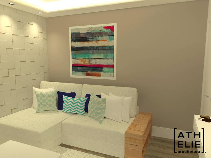 Sala de Estar [Living]: Salas de estar modernas por ATHeliê Arquitetura
