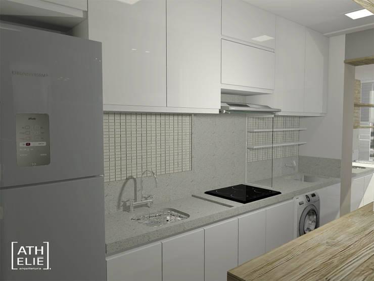 Cozinha Integrada: Cozinhas  por ATHeliê Arquitetura,Moderno