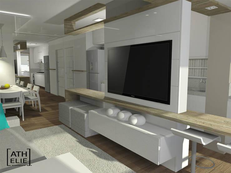 Sala de Estar : Salas de estar  por ATHeliê Arquitetura,Moderno
