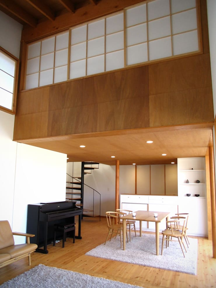 Dining room by 早田雄次郎建築設計事務所/Yujiro Hayata Architect & Associates, Eclectic