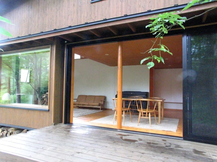 Terrace by 早田雄次郎建築設計事務所/Yujiro Hayata Architect & Associates, Eclectic
