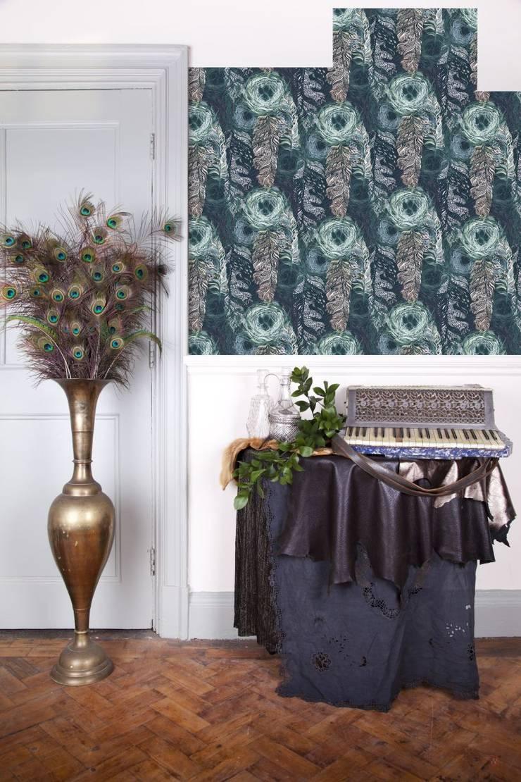 Tapety z motywem zwierząt i roślin: styl , w kategorii Ściany zaprojektowany przez Wzorywidze.pl