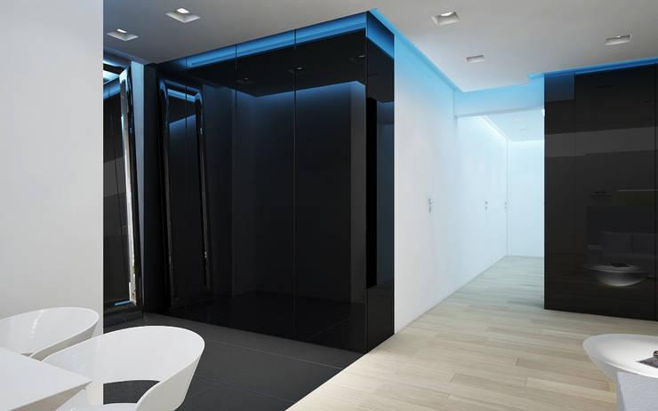 Apartament, pow. 114 m2, Elbląg-cz.3: styl , w kategorii Salon zaprojektowany przez 3miasto design,Minimalistyczny