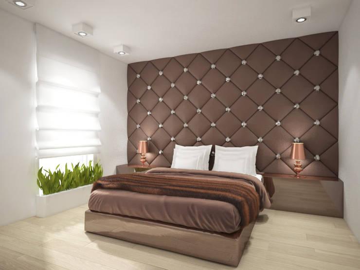 Apartament, pow. 114 m2, Elbląg-cz.3: styl , w kategorii Sypialnia zaprojektowany przez 3miasto design,Klasyczny