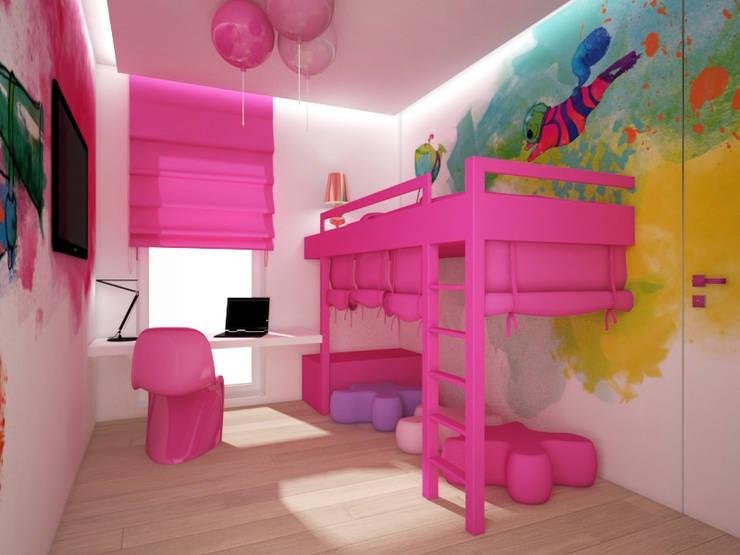 Apartament, pow. 114 m2, Elbląg-cz.3: styl , w kategorii Pokój dziecięcy zaprojektowany przez 3miasto design,Eklektyczny