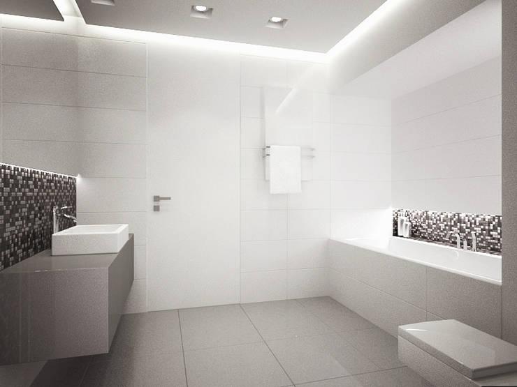 Apartament, pow. 114 m2, Elbląg-cz.3: styl , w kategorii Łazienka zaprojektowany przez 3miasto design,Minimalistyczny