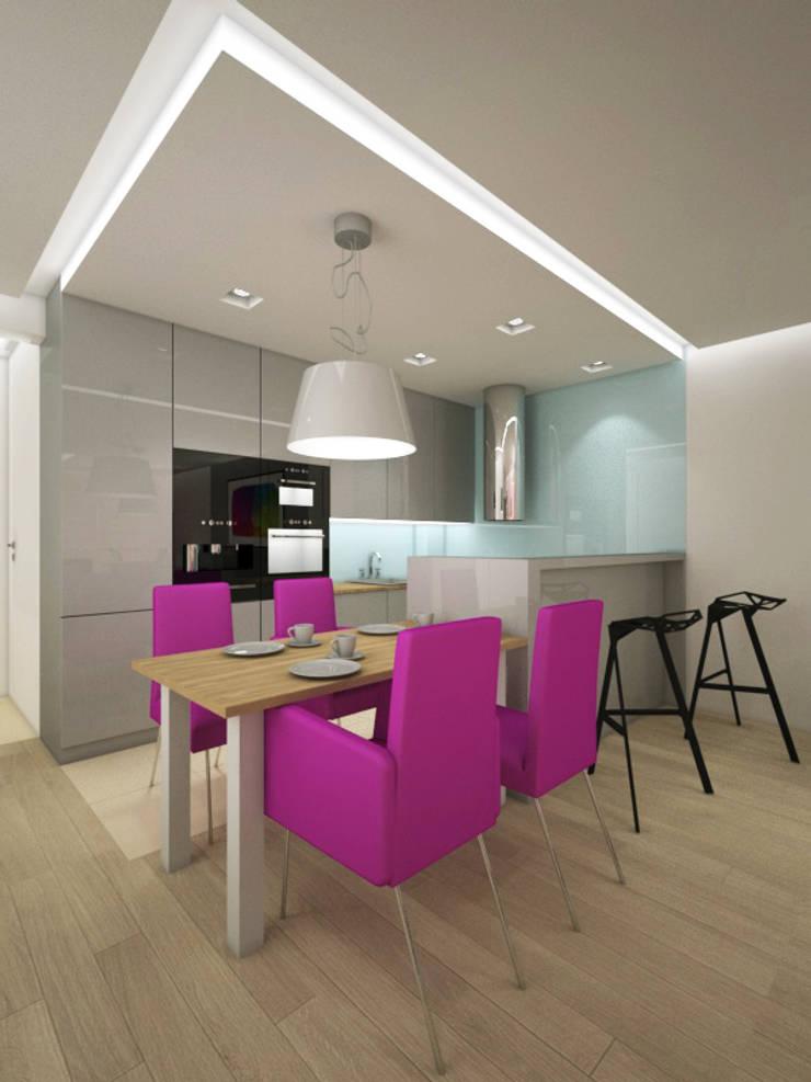 Apartament, pow. 95 m2, Waterlane: styl , w kategorii Jadalnia zaprojektowany przez 3miasto design,Eklektyczny