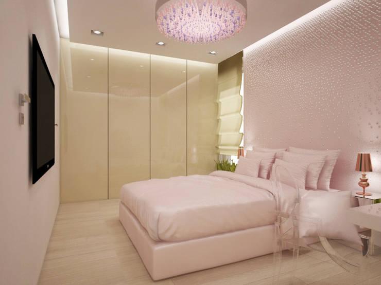 Apartament, pow. 95 m2, Waterlane: styl , w kategorii Sypialnia zaprojektowany przez 3miasto design,Eklektyczny