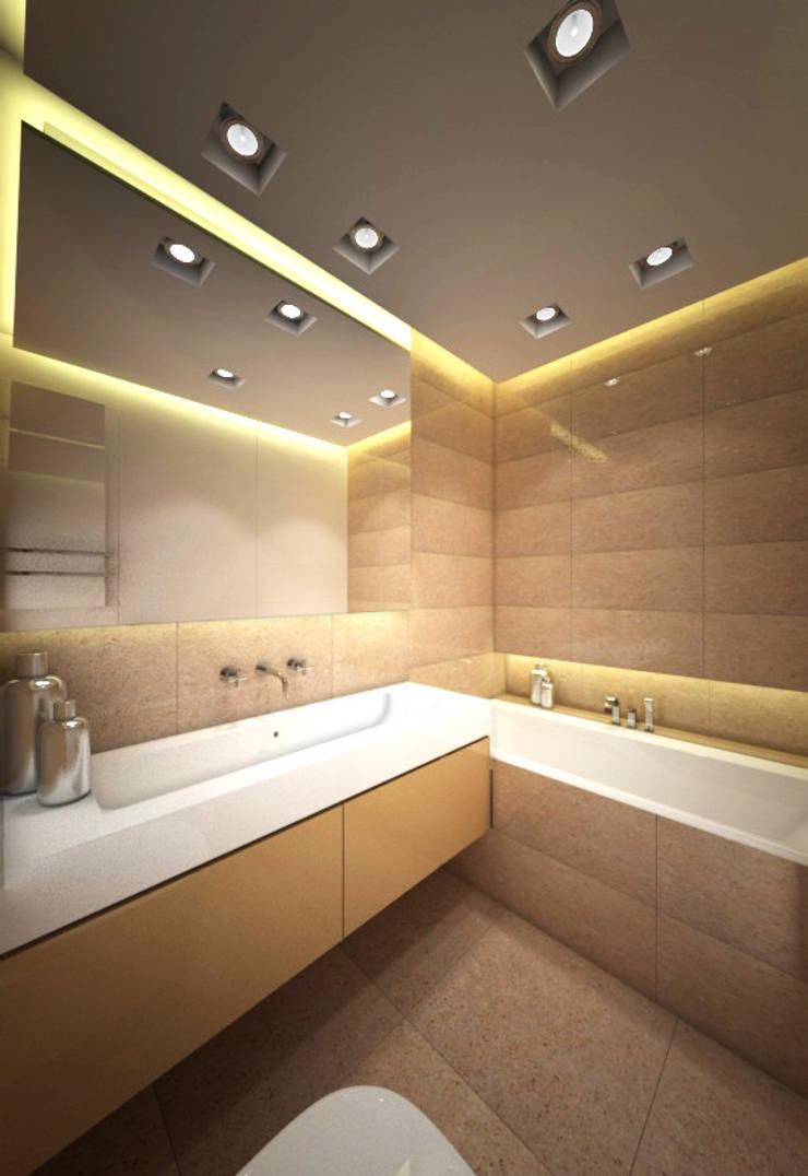 Apartament, pow. 95 m2, Waterlane: styl , w kategorii Łazienka zaprojektowany przez 3miasto design,Eklektyczny