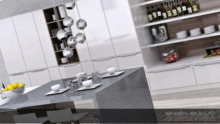 EN+SA MİMARİ TASARIM DEKORASYON MOB.İNŞ.SAN. VE TİC .LTD. ŞTİ – kalamer mutfak:  tarz Mutfak