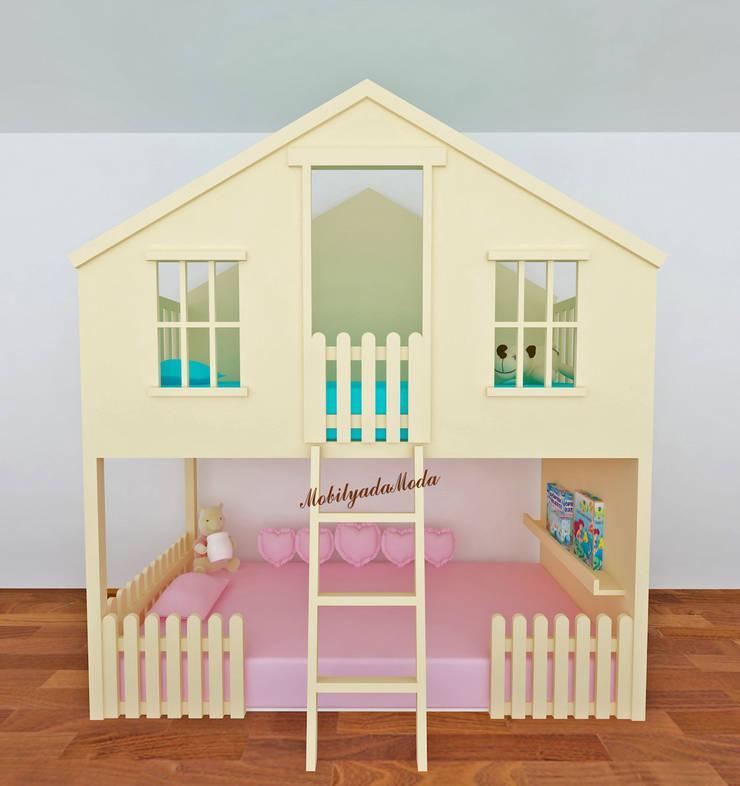 MOBİLYADA MODA  – Tree House Bed Ranza/Ev Model Ranza: modern tarz , Modern Ahşap Ahşap rengi