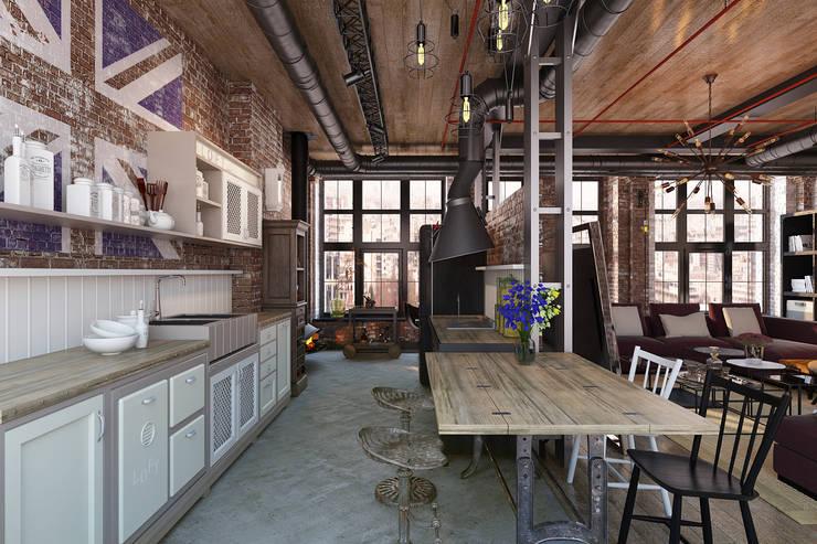 Cocinas de estilo  por Александра Клямурис, Industrial