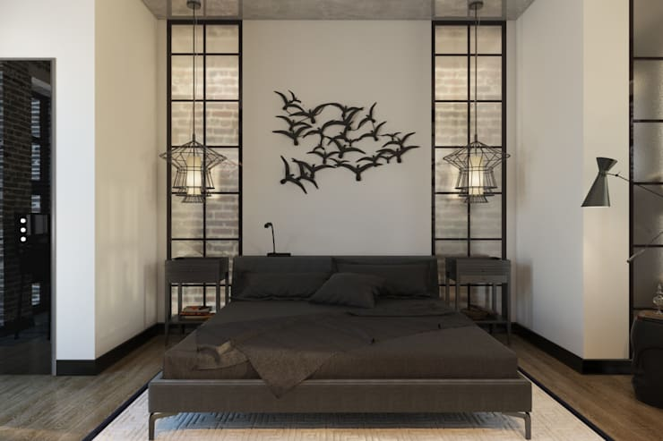 Лофт 17: Спальни в . Автор – Александра Клямурис, Лофт