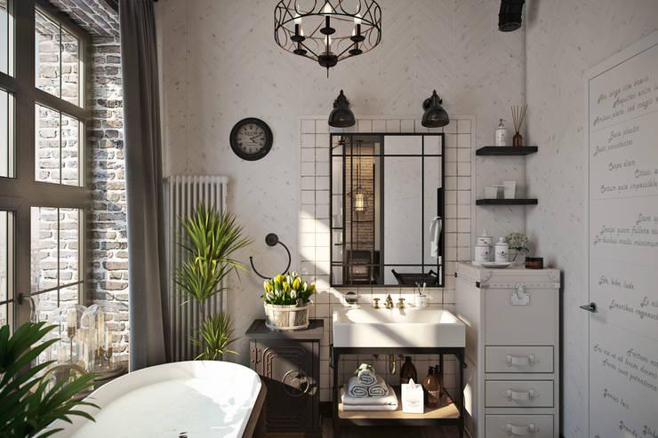 Baños de estilo industrial por Александра Клямурис