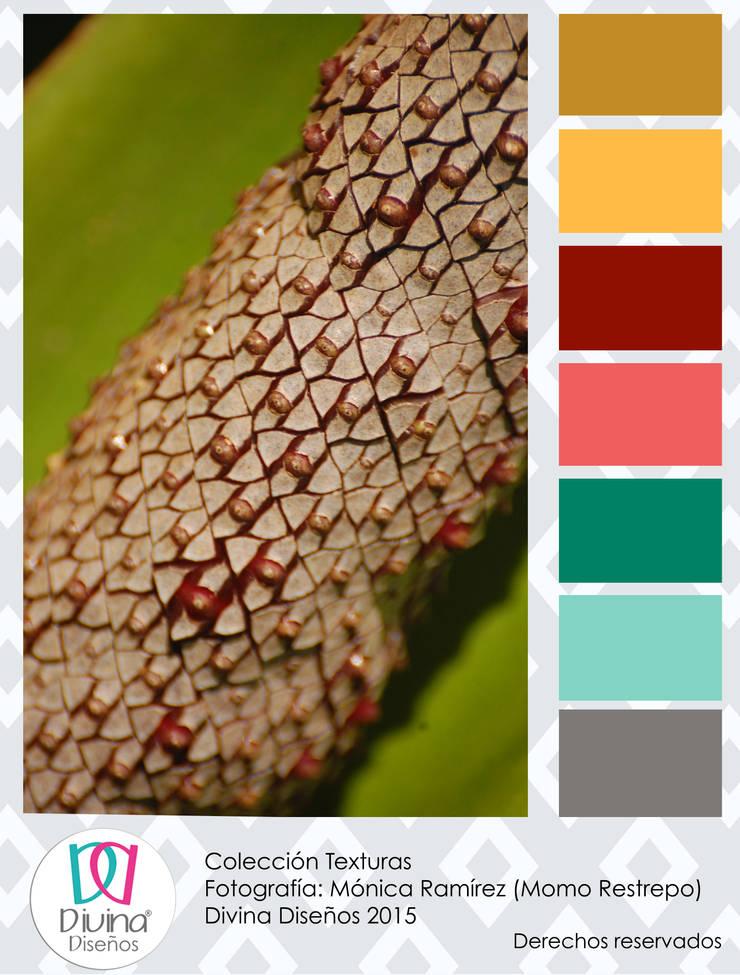Carta de color Estambre - Colección Texturas:  de estilo  por Divina Diseños Decoración, Moderno
