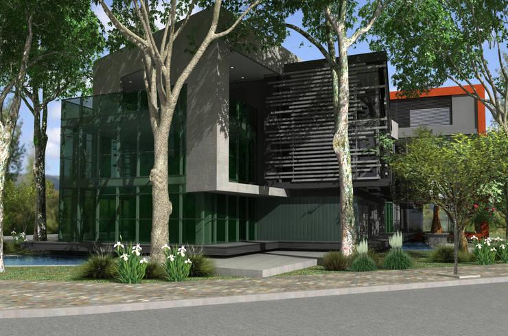 JARDIN OFFICE: Edificios de Oficinas de estilo  por VILARRODONA ARQUITECTOS,