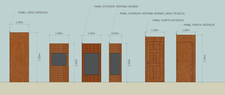 Viviendas Prefabricadas – Patagonia Argentina:  de estilo  por Arq. Dario Gutierrez Ilieff