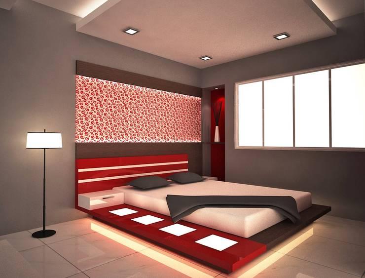 Beautiful Bedroom: modern Bedroom by  Interior Design