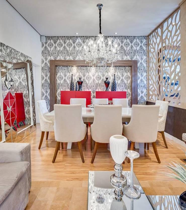 Salas de Estar e Jantar: Salas de jantar  por Ideatto Móveis e Decorações,Moderno