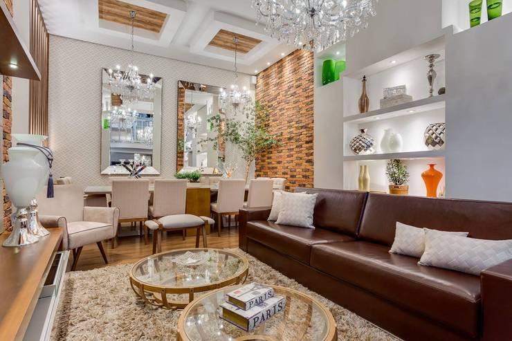 Living room by Ideatto Móveis e Decorações