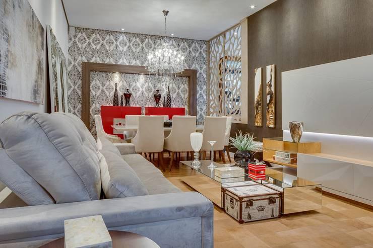 Salas de Estar e Jantar: Salas de estar  por Ideatto Móveis e Decorações,Moderno