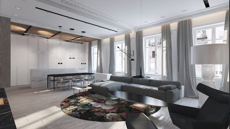 salon: styl , w kategorii  zaprojektowany przez living box