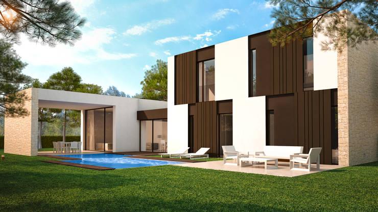 Villa Beatriz: Casas de estilo escandinavo de Nuam