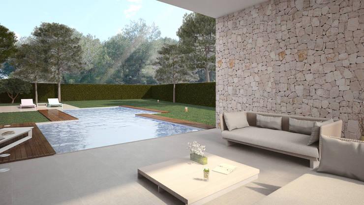 Terraza Villa Beatriz: Terrazas de estilo  de Nuam