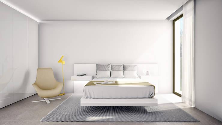 Residencial Beatriz by Ramón Esteve: Dormitorios de estilo escandinavo de Nuam